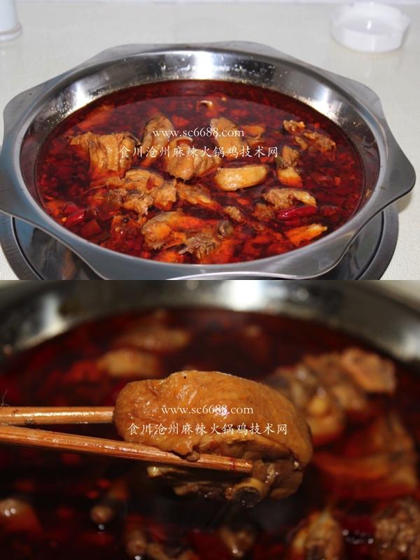独特火锅鸡美食  食川沧州麻辣火锅鸡的制作手法