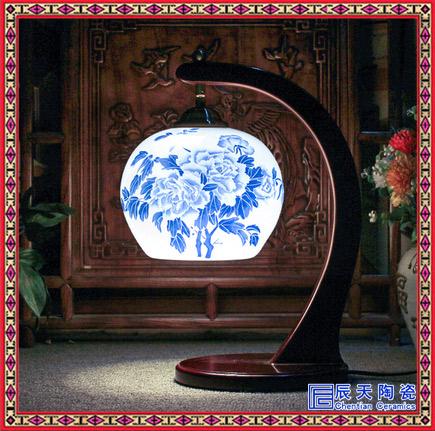 仿古中式木艺镜前灯 景德镇陶瓷灯饰卫生间洗手间浴室壁灯LED