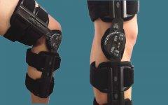 厂家供应医用长短可调膝关节固定支具 膝关节矫形器膝部损伤支具