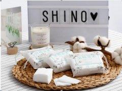 shino丝诺便携方形化妆棉袋装30片装