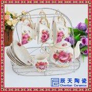 陶瓷咖啡杯套装手柄小茶杯英式欧式咖啡具杯子组合下午茶红茶具