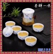 快客杯厂家批发 青瓷旅行功夫茶具套装定制logo 快客茶壶户