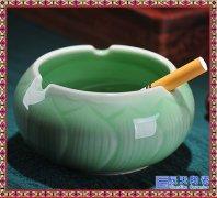 陶瓷烟灰缸定制 创意时尚卧室客厅办公室烟缸 高档礼品可加印L